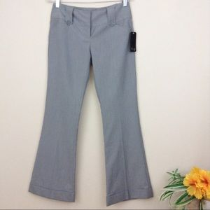 Star City Gray & White Pinstriped Trousers Pants